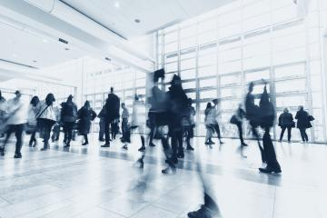 Blurred business people walking in a modern environment- Stock Photo or Stock Video of rcfotostock | RC-Photo-Stock