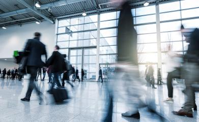 blurred Business people walking in a modern hall- Stock Photo or Stock Video of rcfotostock | RC-Photo-Stock