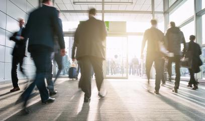 blurred Business People Walking on a business center entrance- Stock Photo or Stock Video of rcfotostock | RC-Photo-Stock