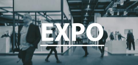 blurred Business people walking on a Expo - text Concept image- Stock Photo or Stock Video of rcfotostock | RC-Photo-Stock