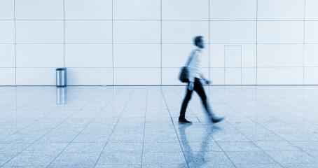 blurred commuter at a walkway- Stock Photo or Stock Video of rcfotostock | RC-Photo-Stock