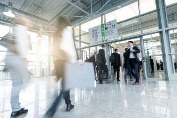 blurred commuters at a entrance- Stock Photo or Stock Video of rcfotostock | RC-Photo-Stock