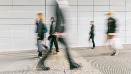 blurred commuters at a modern corridor- Stock Photo or Stock Video of rcfotostock | RC-Photo-Stock