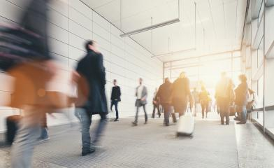 Blurred commuters at a trade fair- Stock Photo or Stock Video of rcfotostock | RC-Photo-Stock