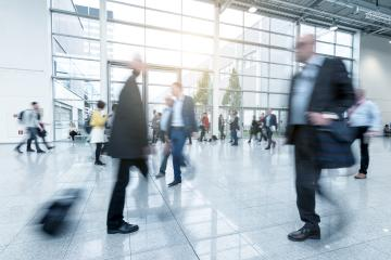 Blurred commuters at a walkway- Stock Photo or Stock Video of rcfotostock | RC-Photo-Stock