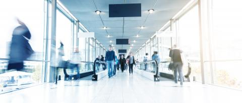 blurred Commuters in a corridor- Stock Photo or Stock Video of rcfotostock | RC-Photo-Stock