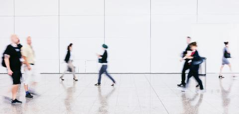 blurred commuters walking at a airport- Stock Photo or Stock Video of rcfotostock | RC-Photo-Stock
