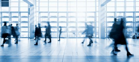 blurred commuters walking at a modern floor- Stock Photo or Stock Video of rcfotostock | RC-Photo-Stock