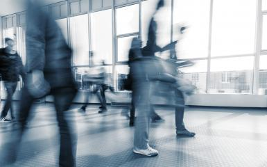blurred commuters walking in a walkway- Stock Photo or Stock Video of rcfotostock | RC-Photo-Stock