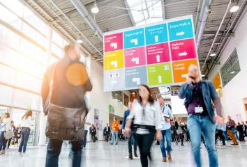 blurred crowd of business people at a trade fair - Stock Photo or Stock Video of rcfotostock | RC-Photo-Stock