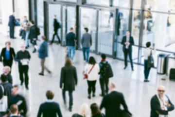 blurred crowd of defocused people at a trade show- Stock Photo or Stock Video of rcfotostock | RC-Photo-Stock