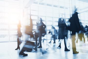 blurred Crowd of people walking in a modern environment- Stock Photo or Stock Video of rcfotostock | RC-Photo-Stock