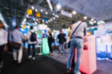 Blurred, defocused background of public event exhibition hall, business trade fair concept : Stock Photo or Stock Video Download rcfotostock photos, images and assets rcfotostock | RC-Photo-Stock.: