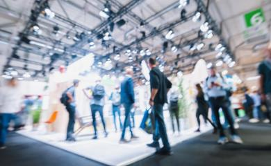 Blurred, defocused background of public event exhibition hall, business trade show concept- Stock Photo or Stock Video of rcfotostock | RC-Photo-Stock