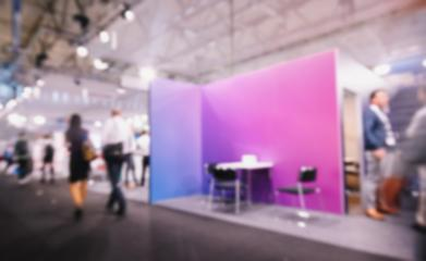 Blurred, defocused background of public event exhibition hall, with copy space for individual text- Stock Photo or Stock Video of rcfotostock | RC-Photo-Stock