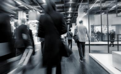 Blurred European Trade Fair visitors- Stock Photo or Stock Video of rcfotostock | RC-Photo-Stock