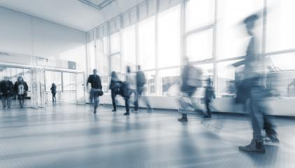 blurred Exhibition visitors at a modern walkway- Stock Photo or Stock Video of rcfotostock | RC-Photo-Stock