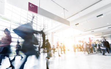 blurred Exhibition visitors at modern hall- Stock Photo or Stock Video of rcfotostock | RC-Photo-Stock