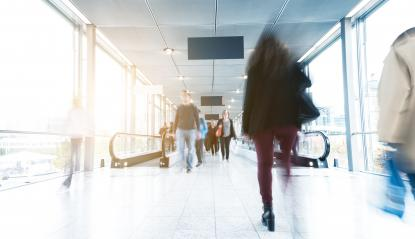 blurred Exhibition visitors in a corridor- Stock Photo or Stock Video of rcfotostock | RC-Photo-Stock