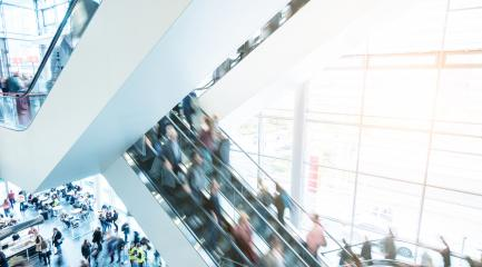 blurred Exhibition visitors using a staircase- Stock Photo or Stock Video of rcfotostock | RC-Photo-Stock
