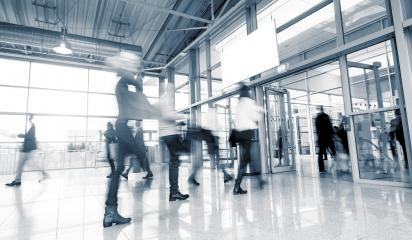 blurred Exhibition visitors walking- Stock Photo or Stock Video of rcfotostock | RC-Photo-Stock