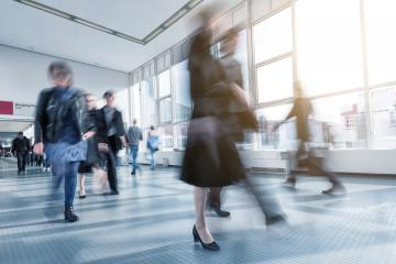 blurred global consumer electronics and consumer tradeshow visitors- Stock Photo or Stock Video of rcfotostock | RC-Photo-Stock