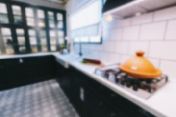 blurred image of modern kitchen interior for background- Stock Photo or Stock Video of rcfotostock | RC-Photo-Stock
