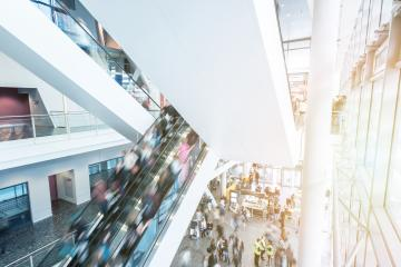 Blurred people at a escalator- Stock Photo or Stock Video of rcfotostock | RC-Photo-Stock