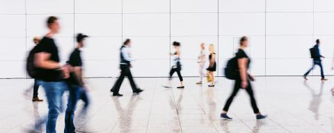 Blurred people at a trade fair- Stock Photo or Stock Video of rcfotostock | RC-Photo-Stock