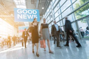 Blurred people at a trade fair (Expo)- Stock Photo or Stock Video of rcfotostock | RC-Photo-Stock