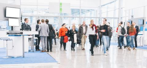 blurred people at a trade fair hall- Stock Photo or Stock Video of rcfotostock | RC-Photo-Stock