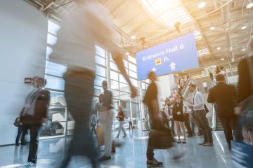 Blurred people at a trade fair show- Stock Photo or Stock Video of rcfotostock | RC-Photo-Stock