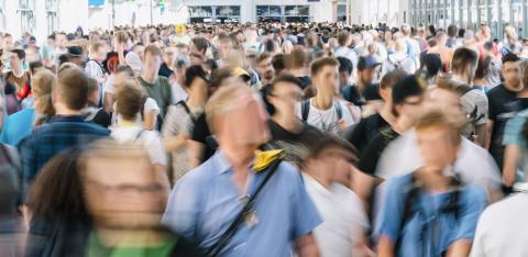 blurred people at a trade show- Stock Photo or Stock Video of rcfotostock | RC-Photo-Stock