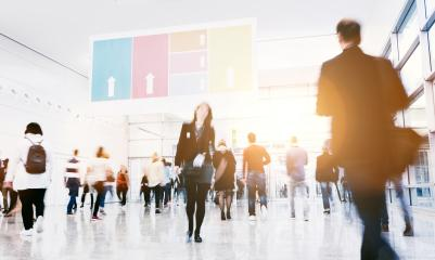 blurred people at a trade show hall : Stock Photo or Stock Video Download rcfotostock photos, images and assets rcfotostock | RC-Photo-Stock.: