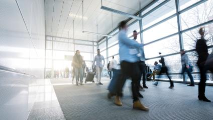 blurred people at rush hour in a modern floor- Stock Photo or Stock Video of rcfotostock | RC-Photo-Stock