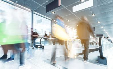 blurred people at Rush Hour in a shopping mall- Stock Photo or Stock Video of rcfotostock | RC-Photo-Stock