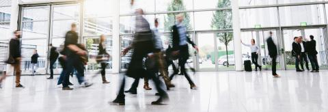 blurred people commuting traveling walking in a hall- Stock Photo or Stock Video of rcfotostock | RC-Photo-Stock