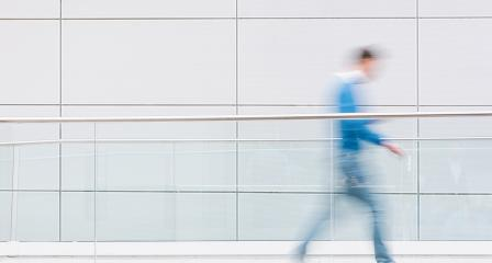 blurred people in a futuristic corridor, including Copy space- Stock Photo or Stock Video of rcfotostock   RC-Photo-Stock