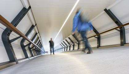 blurred people in a futuristic tunnel- Stock Photo or Stock Video of rcfotostock | RC-Photo-Stock