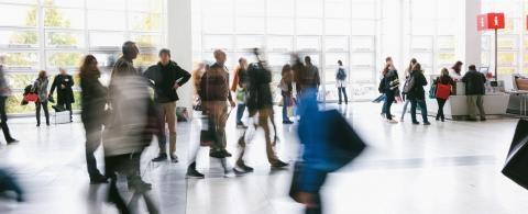 Blurred people in a modern environment on a trade show- Stock Photo or Stock Video of rcfotostock | RC-Photo-Stock
