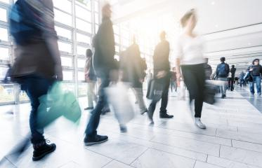 Blurred people in a shopping mall motion blur- Stock Photo or Stock Video of rcfotostock | RC-Photo-Stock