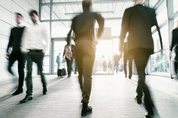 Blurred people in business center entrance - Stock Photo or Stock Video of rcfotostock   RC-Photo-Stock
