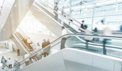 Blurred people on a escalator at a shopping mall- Stock Photo or Stock Video of rcfotostock | RC-Photo-Stock