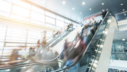 blurred people rushing at a escalator- Stock Photo or Stock Video of rcfotostock | RC-Photo-Stock