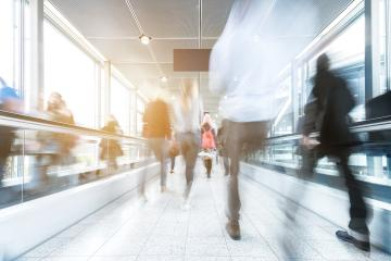Blurred people rushing at a walkway- Stock Photo or Stock Video of rcfotostock | RC-Photo-Stock