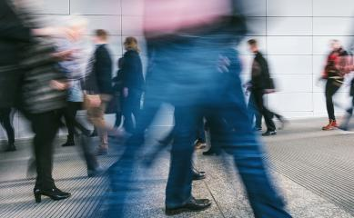 Blurred people rushing in a corridor- Stock Photo or Stock Video of rcfotostock | RC-Photo-Stock