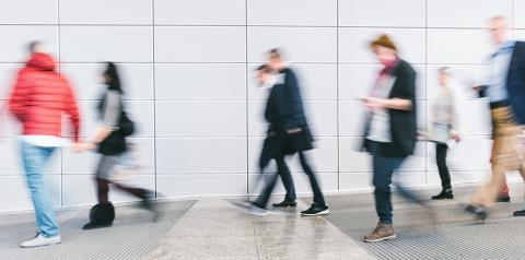 blurred people rushing in a modern floor- Stock Photo or Stock Video of rcfotostock | RC-Photo-Stock