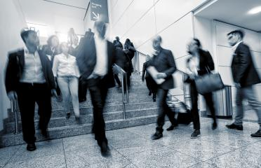Blurred people using a skywalk/staircase- Stock Photo or Stock Video of rcfotostock | RC-Photo-Stock