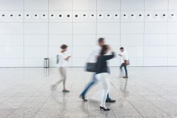 Blurred people walking at corridor in hall- Stock Photo or Stock Video of rcfotostock   RC-Photo-Stock