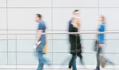 blurred people walking in a corridor- Stock Photo or Stock Video of rcfotostock | RC-Photo-Stock